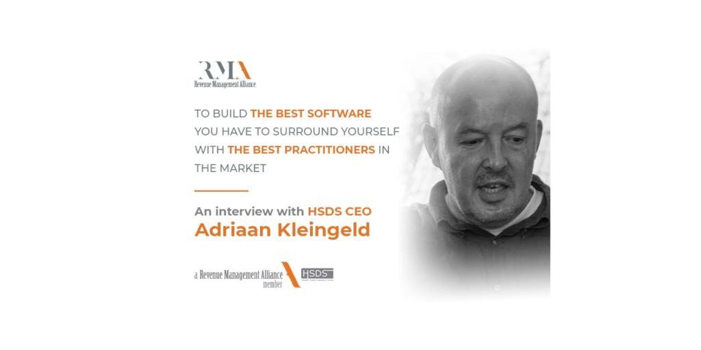 Adriaan Kliengeld, Hospitality Software Development Services CEO, founder of the Revenue Management Alliance